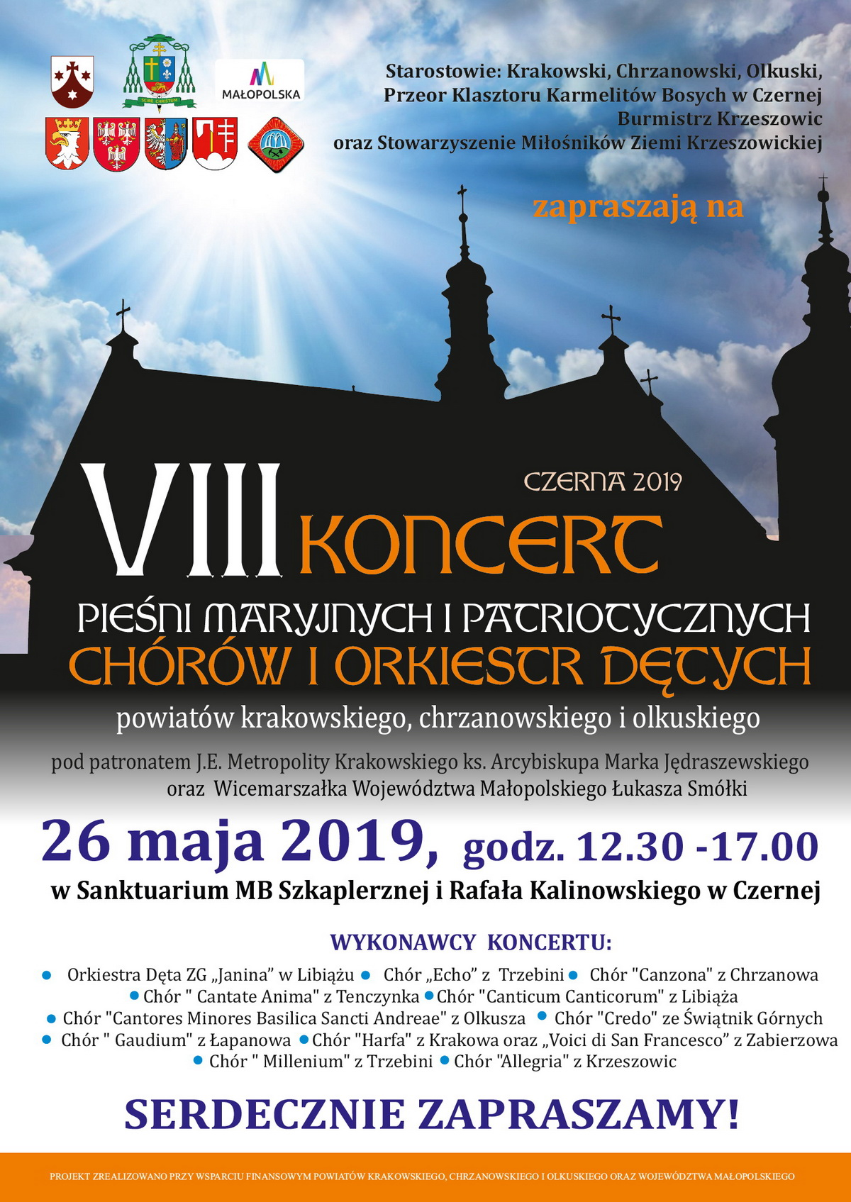 Plakat chóry Czerna
